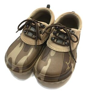 Crocs Axle Duck Muck Boot Shoes Clogs Mens Size 6 Womens 10 Leather Camo Lace Up
