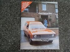 1976 FORD FALCON XC PANEL VAN SALES  BROCHURE.  100% GUARANTEE.