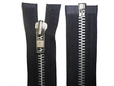 "YKK ZIP,BLACK, 24""/61CM ALUMINIUM TEETH OPEN END, HEAVY DUTY, NUMB 8"