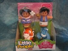 Fisher Price Little People Disney Princess Jasmine & Friends Aladdin Genie Rajah