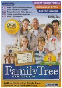 Family Tree Heritage Deluxe 7.0 Windows 10, 7, Vista, Xp Indivdiual Software