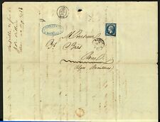 France 1862 cover 20c Napoleon tied 1896 Marseille (12) with Nice (87) transit F