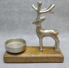 Formano Teelichthalter Elch Alu Mango Holz Metall Herbst Weihnachten Geschenk