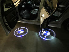 2x3D Laser LED Welcome Projector Logo Ghost Shadow Car Door Light Lamp For BMW #