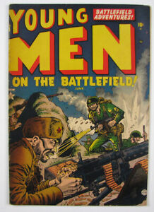 Young Men on the Battlefield Golden Age Comic Book #15 1952 Atlas