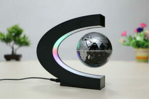 Creative C Shape Magnetic Levitation Floating Globe World Map with Colorful LED