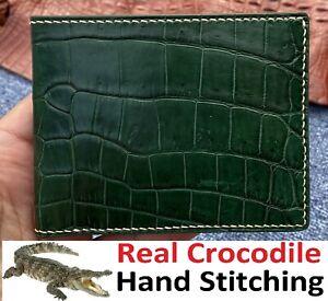 Green Alligator Wallet Men