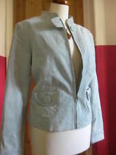 bnwt Ladies NEXT pale mint green real suede leather JACKET size UK 16 petite 14