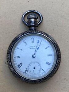 "Vintage A W W & Co Waltham Pocket Watch 2-1/8"" Diameter ""Non Working"""