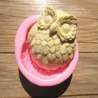 Owl Silicone Soap Fondant Mould Chocolate Sugarcraft Cake Mold Baking Tool DIY