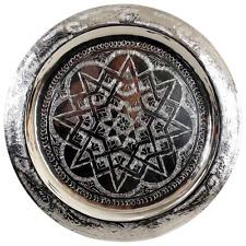 de Fès Authentique marocain alpaca argent handcrafted servant plateau