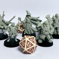 Tabletop Premium Miniaturen Set 21 Figuren Fantasy / Mittelalter Krieger+Magier
