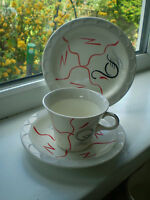 Barratts Staffordshire Tea Cup & Saucer Side Plate Trio British Vintage