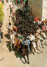CAMARGUE lâcher de 50 taureaux timbrée 1998