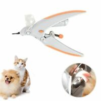 Pet Dog Nail Clippers Grinders LED Light 5X Magnifier Grooming Claw Nail Trimmer