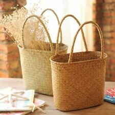 Woven Straw Basket Storage Eco-Friendly Picnic Flowers Bags For Kitchen Home Use