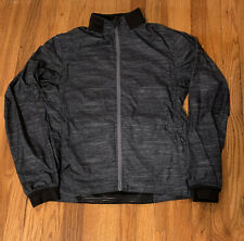 Mens Lululemon Small Windbreaker Jacket In Excellent Condition Black Gray Stripe