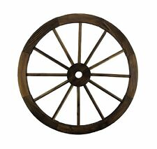"Wagon Wheel 24"" Wood Decorative Home Garden Yard - Wooden Western Rustic Country"