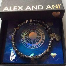 Alex and Ani Glimmer Wrap Bangle Bracelet Metallic Blue NWTBC