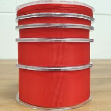 Beautiful Red Grosgrain Ribbon 3mm-38mm Thin - Wide Solid Plain Cut Per 1M
