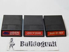 Game Lot of 3 Armor Battle & Lock N Chase & Sub Hunt Intellivision Games