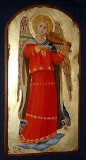 ANGELO MUSICO  (Beato Angelico) icona sacra dipinta a mano su legno e foglia oro