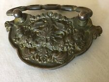 Antique  Rare Cast Iron And Brass Pull, Handle