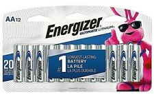 12 New Energizer L91BPF Ultimate Lithium AA Batteries Exp. 2037