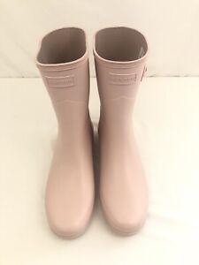 HUNTER Women's Refined Short Waterproof Rain Boots Pink Sz 9
