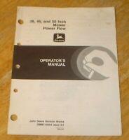 "John Deere 38"", 46"" & 50"" Mower Power Flow Operator's Manual - Nice!"