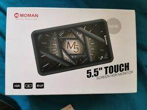 MOMAN M5 Field Monitor 5.5 Inch Full HD 1920x1080 IPS 4K HDMI 8.4V DC Input