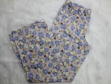 Hello Kitty Womens Pajama Pants Large White Blue Sleepwear Elastic Waist