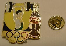 Pins coca cola JO Jeux Olympiques Olympics Games Halterophilie Weightlifting