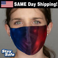 CHILD size RED/BLUE Face Mask –INCLUDES 2 FILTERS –30+ Custom Kids Designs