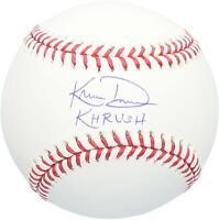 "Khris Davis Texas Rangers Autographed Baseball with ""Khrush"" Inscription"