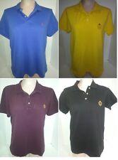 Lot of 4 RALPH LAUREN Womens Short Sleeve Polo Shirt Sz Large Blue Purple Black