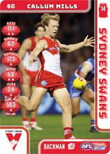2018 TEAMCOACH SYDNEY SWANS CALLUM MILLS # 60 COMMON CARD AFL free post