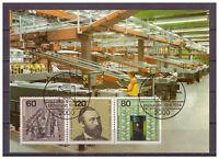 BRD Maximumkarte Weltpostkongress MiNr. 1215 - 1217 ESSt Hamburg 19.06.1984