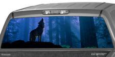 HOWLING WOLF Rear Window Graphic Decal Sticker Print Tint Truck Suv Sticker ute