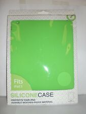 iPAD 3 GREEN SILICONE CASE PROTECTS YOUR iPOD WEATHER PROOF MATERIAL NIP