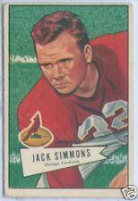 1952 Bowman Football #110 John Simons Cardinals VG
