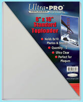 "5 Ultra Pro 8""x10"" Standard TOPLOADERS NEW Memorabilia Photo Collectible Plaque"