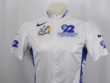 NIKE Dri-Fit Le Tour de France Cycling Bike Jersey -White/Blue -Men's XL