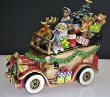 Vintage Fitz & Floyd Santa'S Musical Classic Car We Wish You A Merry Christmas