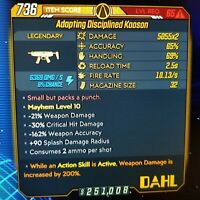 (PC) Borderlands 3 [Level 65/MAYHEM 10] Kaoson X2 (Shock) (200%DMG-ASA)