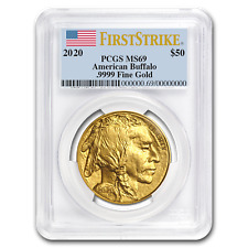 2020 1 oz Gold Buffalo MS-69 PCGS (FirstStrike®) - SKU#199476