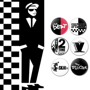SKA BANDS - 25mm button badges - specials selecter madness beat two tone