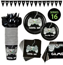 Video Game Party Supplies Kit - Happy Birthday - Fortnite Roblox - Serves 16