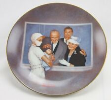 "Knowles-""New Arrival""-Norman Rockwell American Family Ii-Nle- plate-Usa-New!"