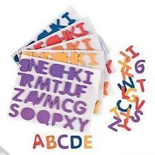 "52 Alphabet Foam Sticker Letter 1/2"" ABC Self Adhesive 2 Multi-Colored Sets"